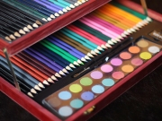 Color Drawing Art Supplies Box