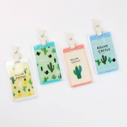 About Cactus Plastic Badge Holder