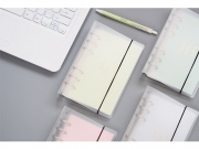 Frosted Plastic File Binder 6 Ring A6
