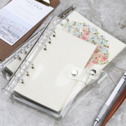 Korean Style Clear Cover 6 Ring Binder