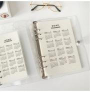 Calendar 2022 Plastic 6 Ring Binder Divider