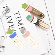 Succulent Pot Metal Bookmark