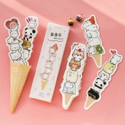 Cuteness Ice Cream Paper Bookmark Set