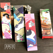 Classical Japan Neko Paper Bookmark Set