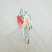 Scenery and Leaves Paper Bookmark Set