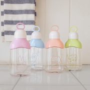 Pastel Animal Plastic Water Bottle