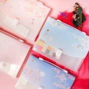 Dear Cherry Blossom Plastic Folder Briefcase