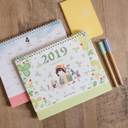 Flower Girl 2019 Desk Calendar
