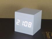 Wooden Digital Clock Mini White
