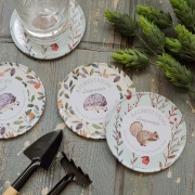 Forest Story Tin Coaster Set