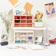 Minimalist 9 Drawer Desktop Cabinet