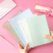 Claire Plain Color Slim File Binder
