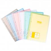 Colorful Dual Tie Slim File Binder Notebook