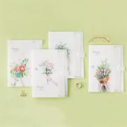 Floras Garden 5 Pockets File Folder
