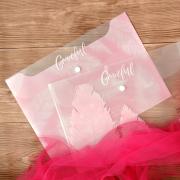 Graceful Feather Button File Folder A4