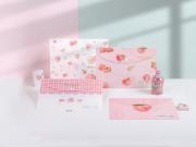 Paradise of Peaches Button File Folder A4