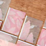 Graceful Feather Sliding File Folder A4