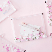 Sakura Viewing Zipper File Folder A4