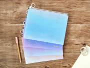 Falling Into Starry Sky Zipper File Folder