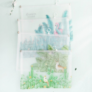 Green World Zipper File Folder A4