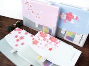 Cherry Blossom Plastic Folder Briefcase A4