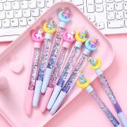 Moon Unicorn Quicksand Gel Ink Pen