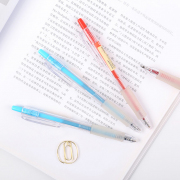 Red and Blue Clear Ballpoint Gel Pen