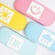Good Mood Canvas Glasses Case