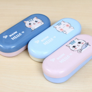 Meow Hello Tin Glasses Case