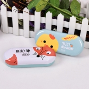 The Fox and Chicken Tin Glasses Case