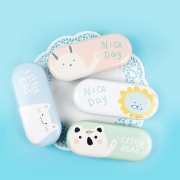 Nice Pastel Day Tin Glasses Case