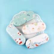 Pastel Spring Tin Glasses Case