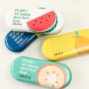 Thinking About Fruits Tin Glasses Case