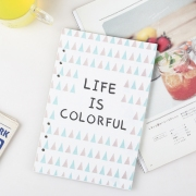 Life is Colorful Loose Leaf Binder Paper A5