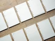 White Loose Leaf Binder Paper A5