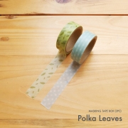 Masking Tape Box Polka Leaves