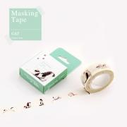 Masking Tape Holiday Cats