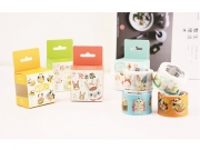 Refreshing Cartoon Animal Masking Tape 30mm