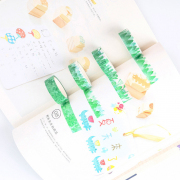 Masking Tape Set 4pc Green Trees