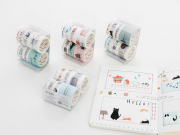 Masking Tape Set 8pc Cat Days