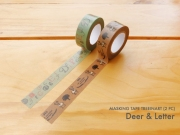 Masking Tape Treeinart Deer and Letter