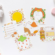 Cat and Duck Buddies Fancy Memopad