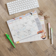 Ramen and Sushi Monthly Plan Memopad