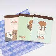 Bare Bears Mini Plain Memopad