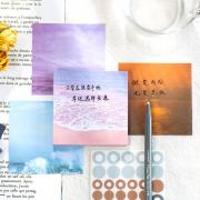 Translucent Sunlight Memopad and Stickers