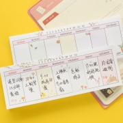 Weekly Plan Sticky Memo Pad