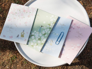 Cherry Blossom Rain Grid Notebook B5