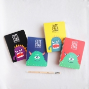 Cute Star Monster Friend Mixed Notebook