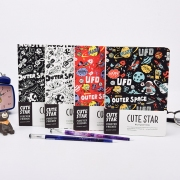 Cute Star Outer Space Mixed Notebook