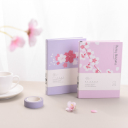 Cherry Blossom Hardcover Mixed Notebook A6